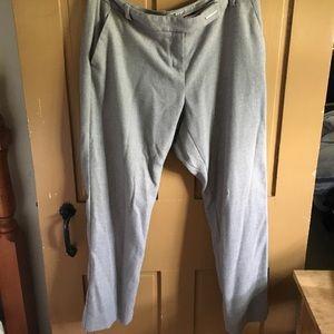 Women's Grey & White Check Dress Pants.